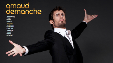 Le site officiel d'Arnaud DEMANCHE